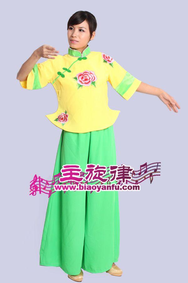 H-013汉族黄绿牡丹