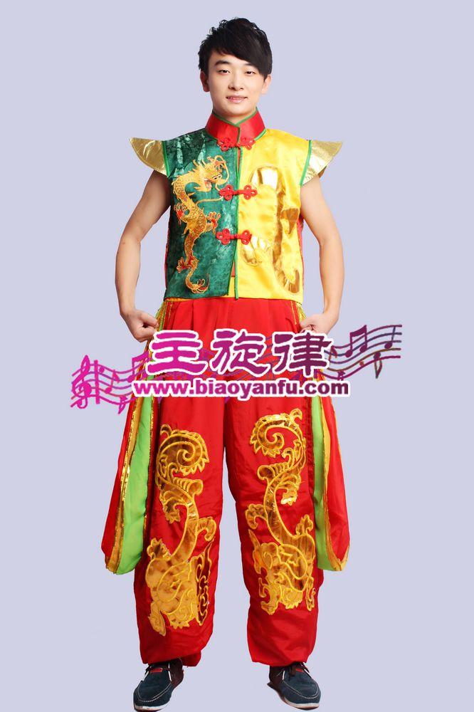 H-031汉族红黄绿金龙