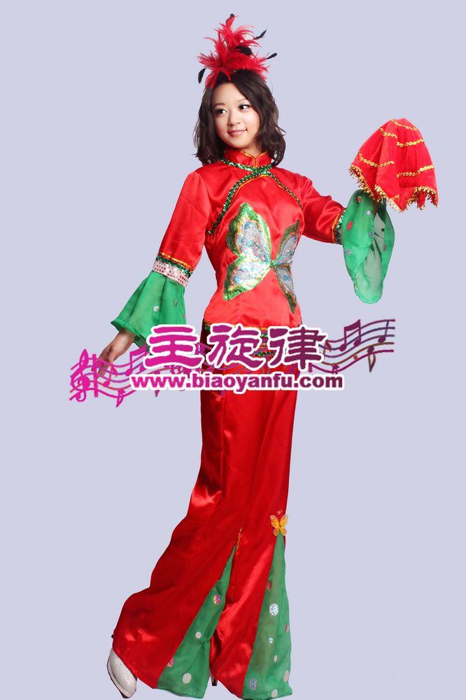 H-032汉族红绿蝴蝶