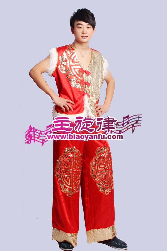 H-043男汉族红金亮片