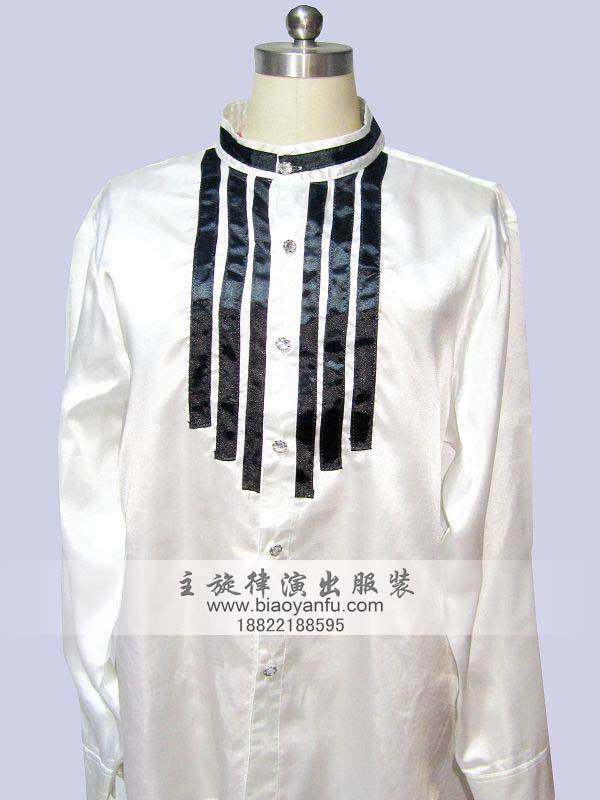 CY-022白圆领胸前黑条
