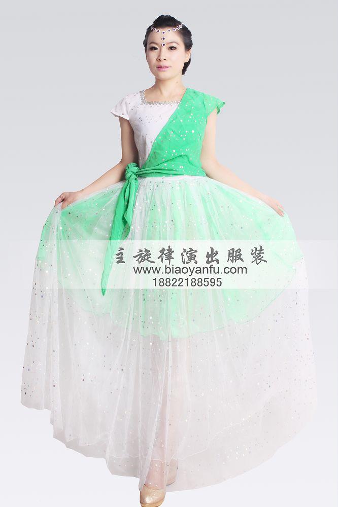 大摆裙青青绿水
