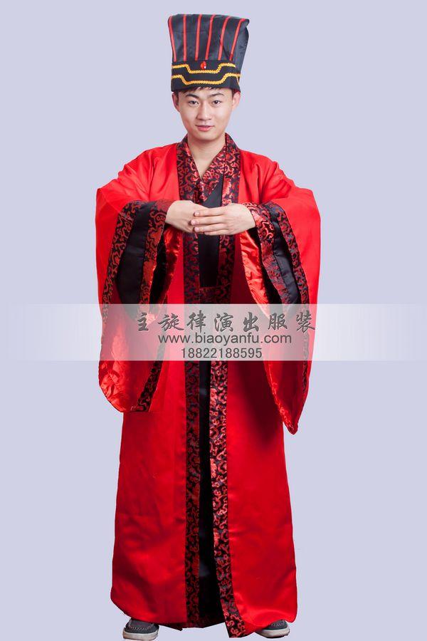 男汉礼服红色