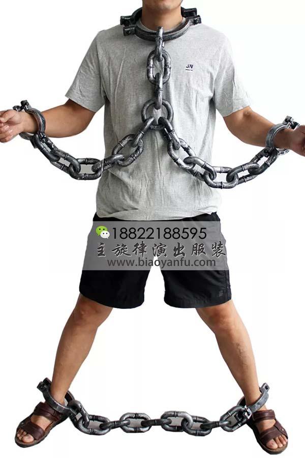 9132古代囚犯手脚铐