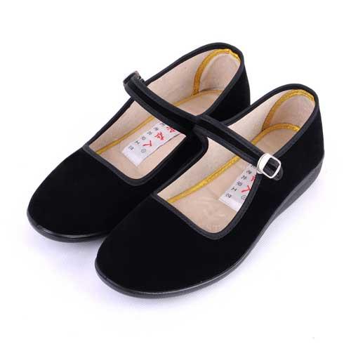 ht48女生黑布鞋