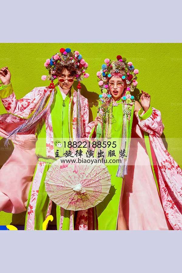 WS161国潮绿嘻哈戏服