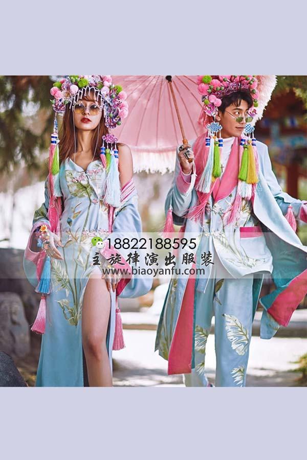 WS160国潮蓝嘻哈戏服