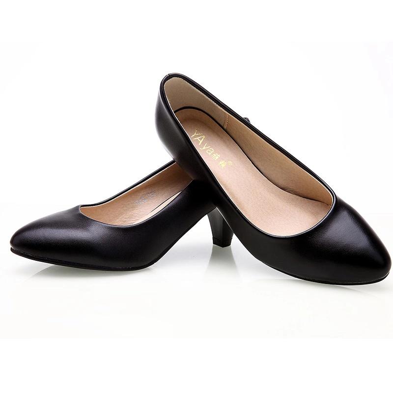 ha53女士正装皮鞋-黑